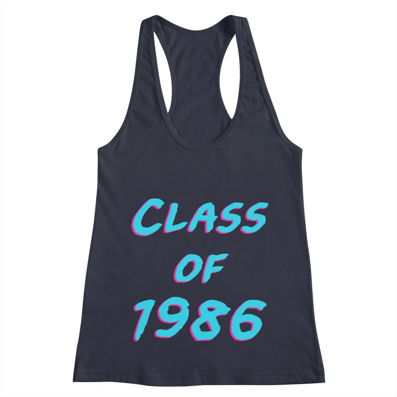 Class Of 1986: Font Women's Racerback Tank by The Glitchway
