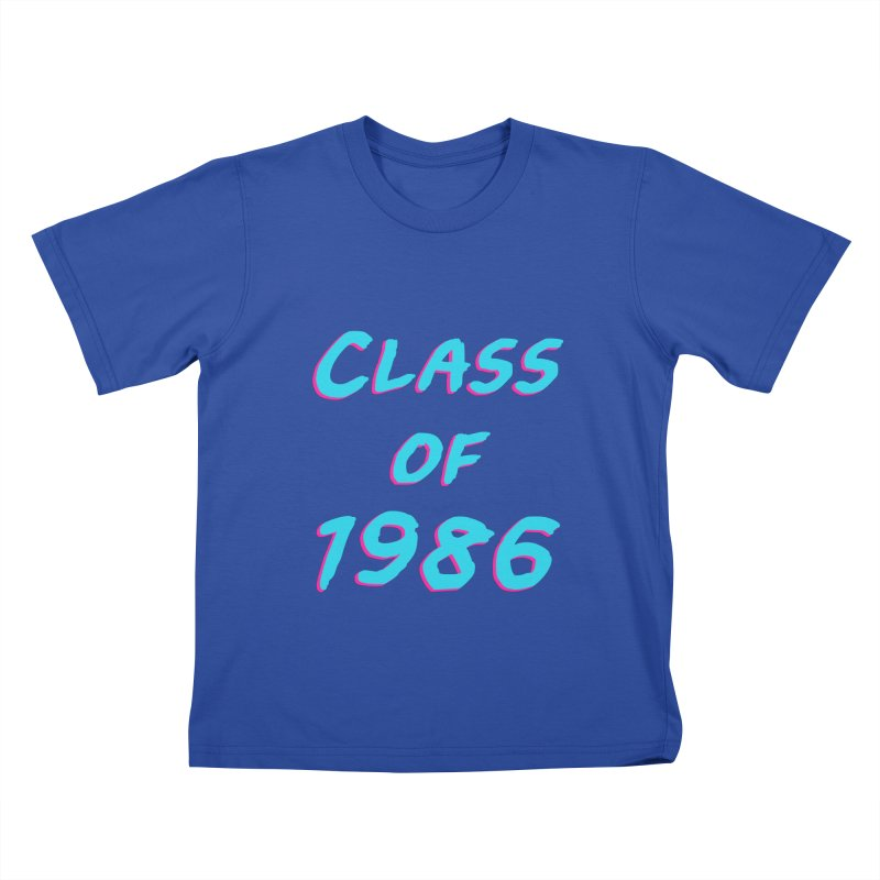 Class Of 1986: Font Kids T-Shirt by The Glitchway
