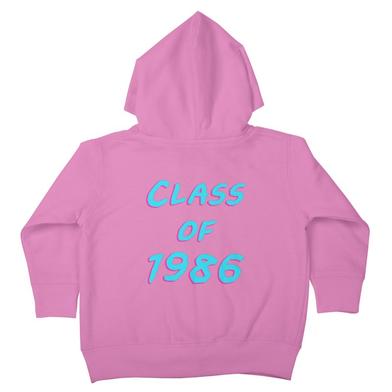 Class Of 1986: Font Kids Toddler Zip-Up Hoody by The Glitchway