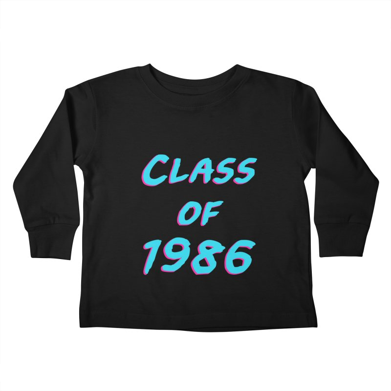 Class Of 1986: Font Kids Toddler Longsleeve T-Shirt by Glitchway Store
