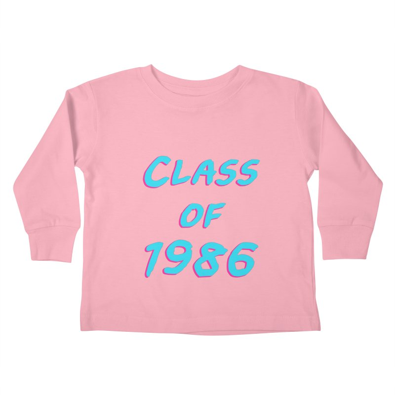 Class Of 1986: Font Kids Toddler Longsleeve T-Shirt by The Glitchway