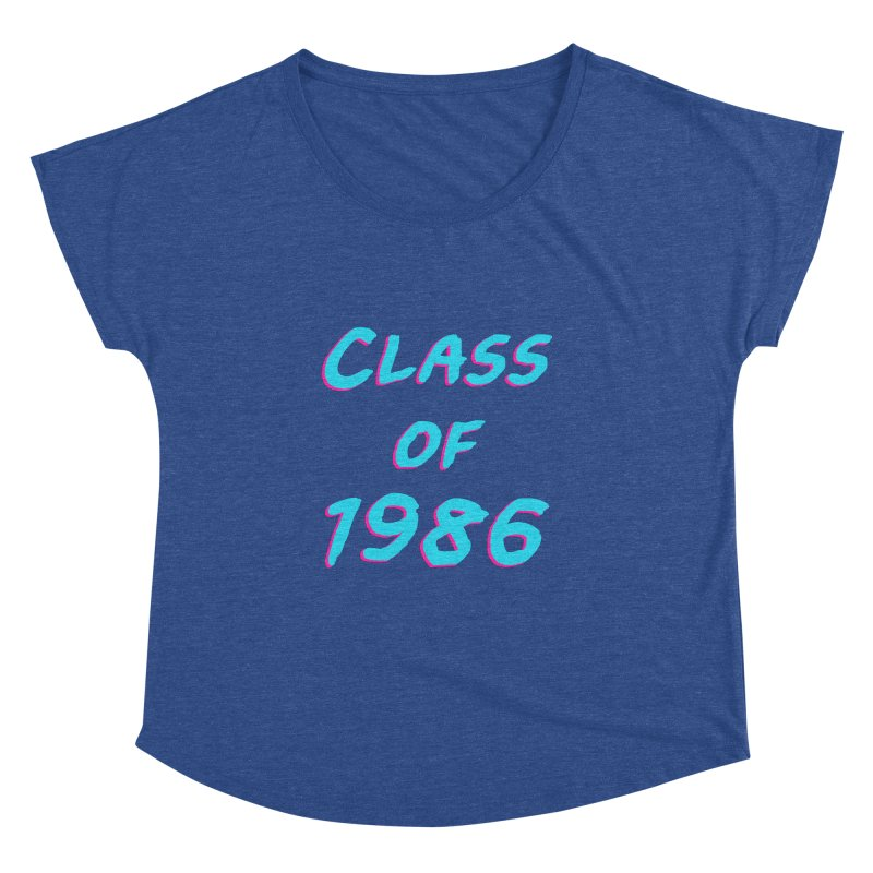 Class Of 1986: Font Women's Dolman Scoop Neck by The Glitchway