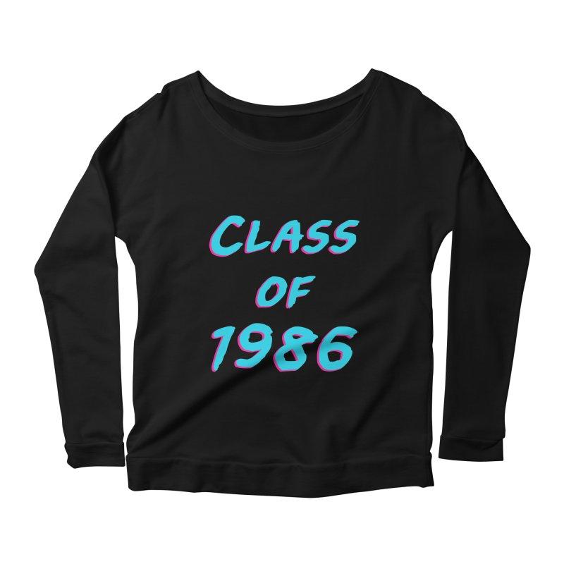 Class Of 1986: Font Women's Longsleeve Scoopneck  by Glitchway Store