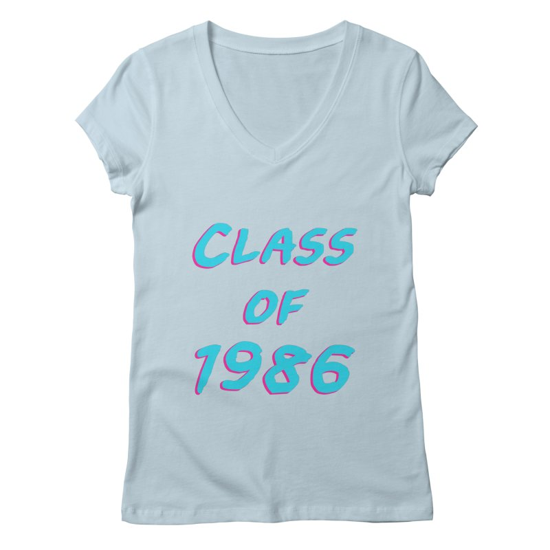 Class Of 1986: Font Women's Regular V-Neck by The Glitchway