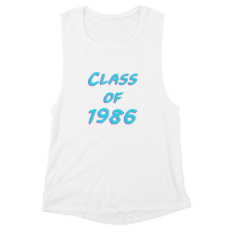Class Of 1986: Font Women's Muscle Tank by Glitchway Store