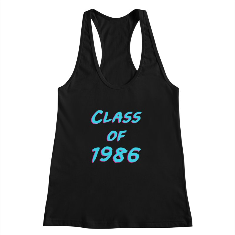 Class Of 1986: Font Women's Racerback Tank by Glitchway Store