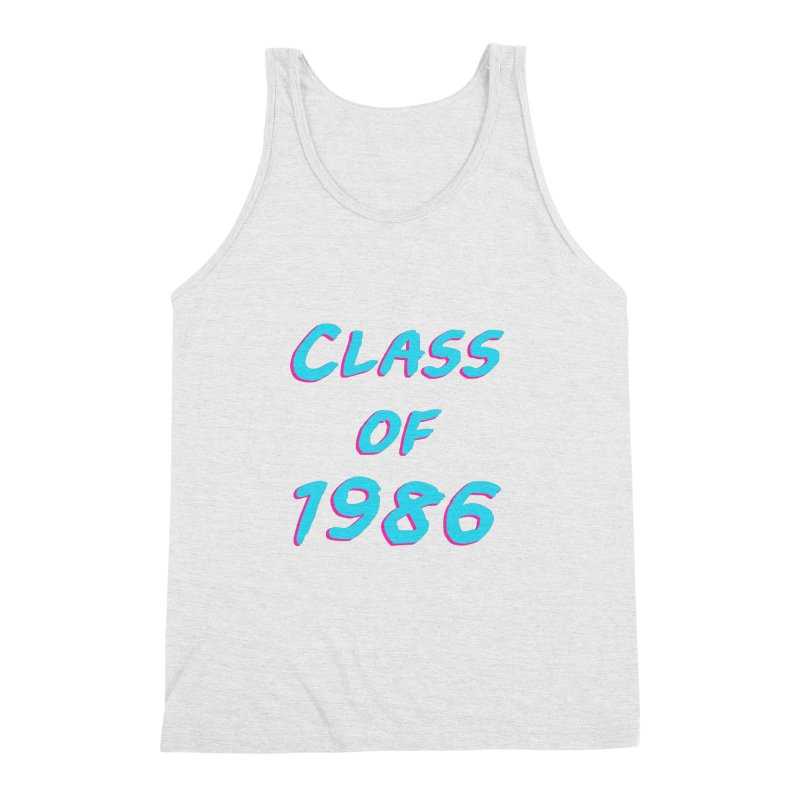 Class Of 1986: Font Men's Triblend Tank by Glitchway Store