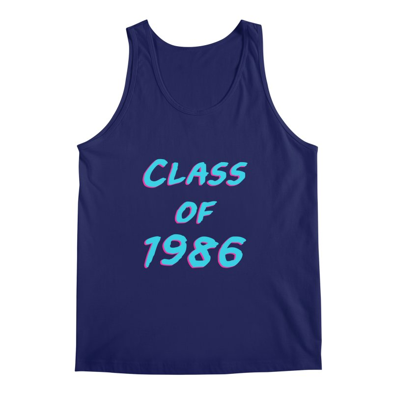 Class Of 1986: Font Men's Tank by Glitchway Store