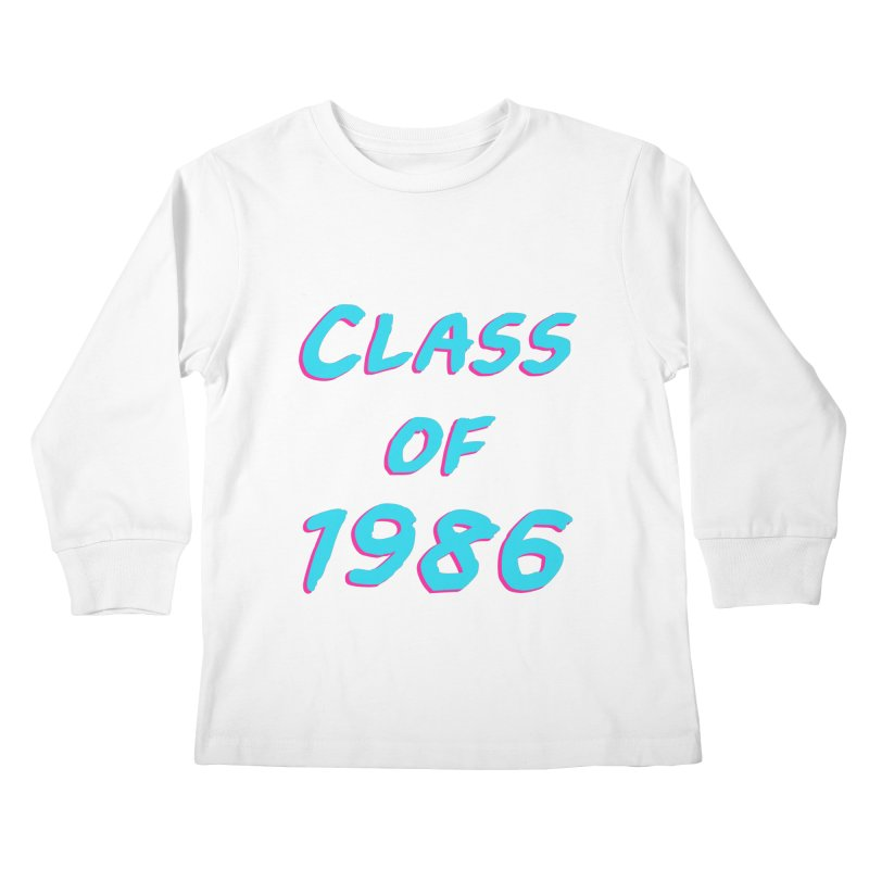 Class Of 1986: Font Kids Longsleeve T-Shirt by The Glitchway