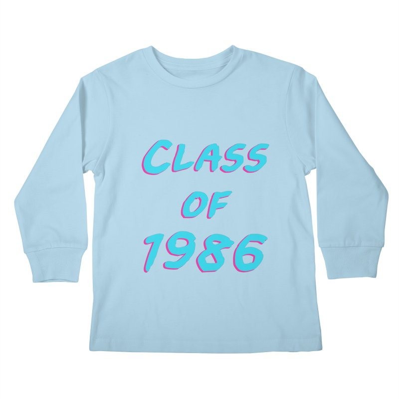 Class Of 1986: Font Kids Longsleeve T-Shirt by Glitchway Store