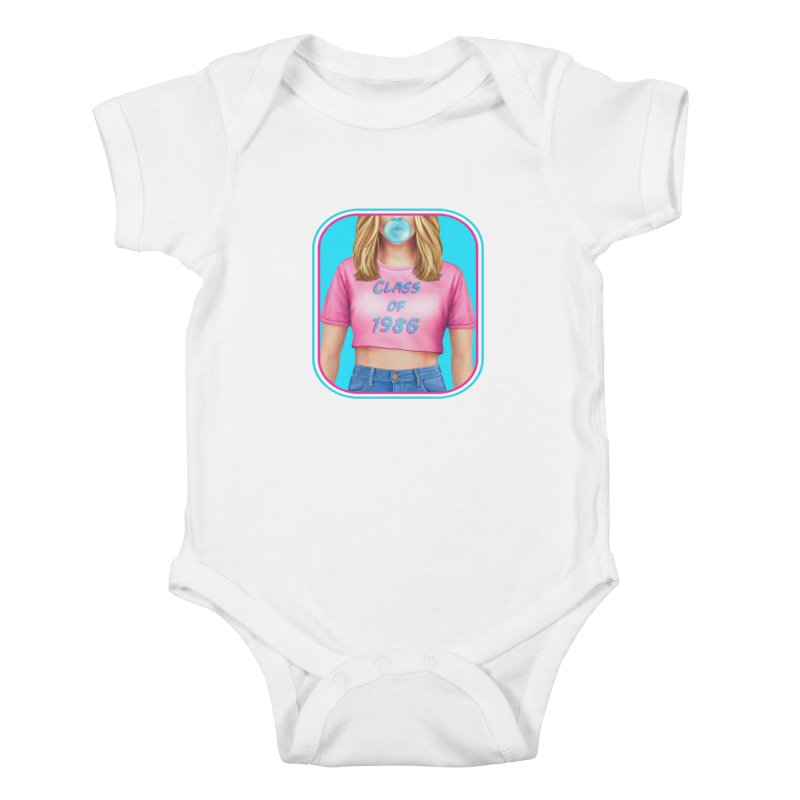 Class Of 1986 Kids Baby Bodysuit by Glitchway Store