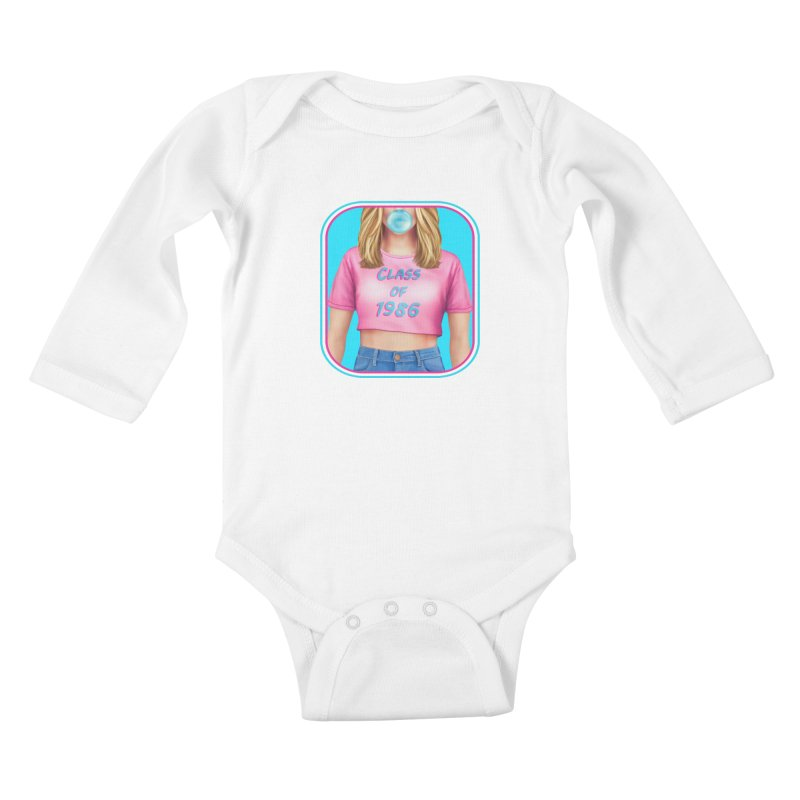 Class Of 1986 Kids Baby Longsleeve Bodysuit by The Glitchway