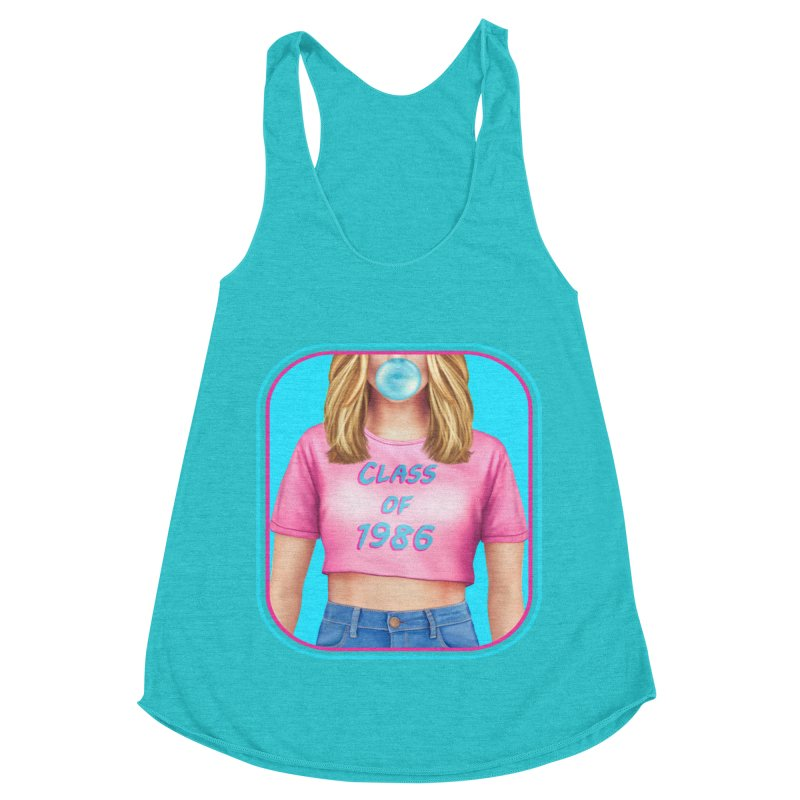 Class Of 1986 Women's Racerback Triblend Tank by The Glitchway