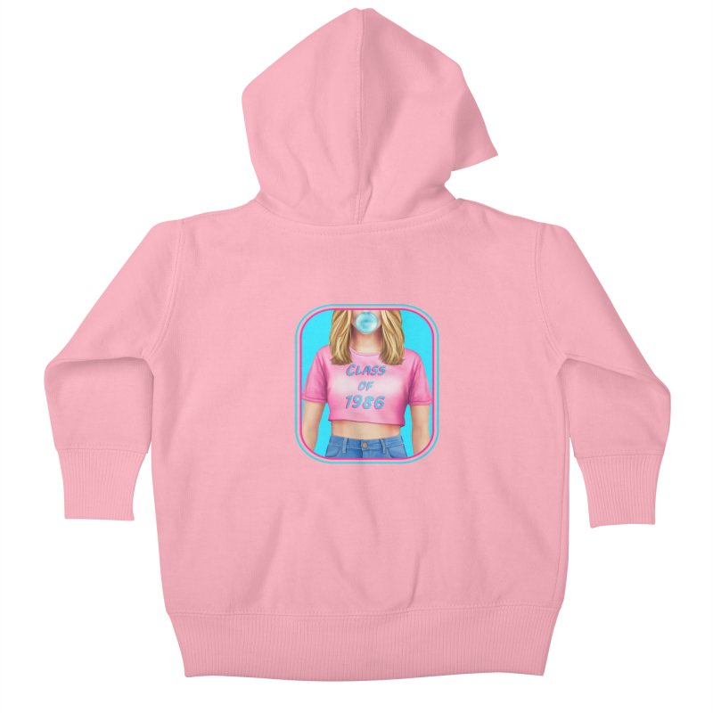 Class Of 1986 Kids Baby Zip-Up Hoody by Glitchway Store