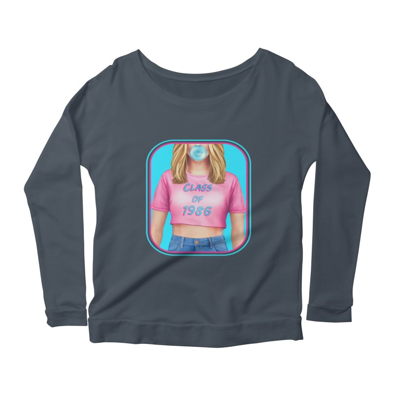 Class Of 1986 Women's Scoop Neck Longsleeve T-Shirt by The Glitchway