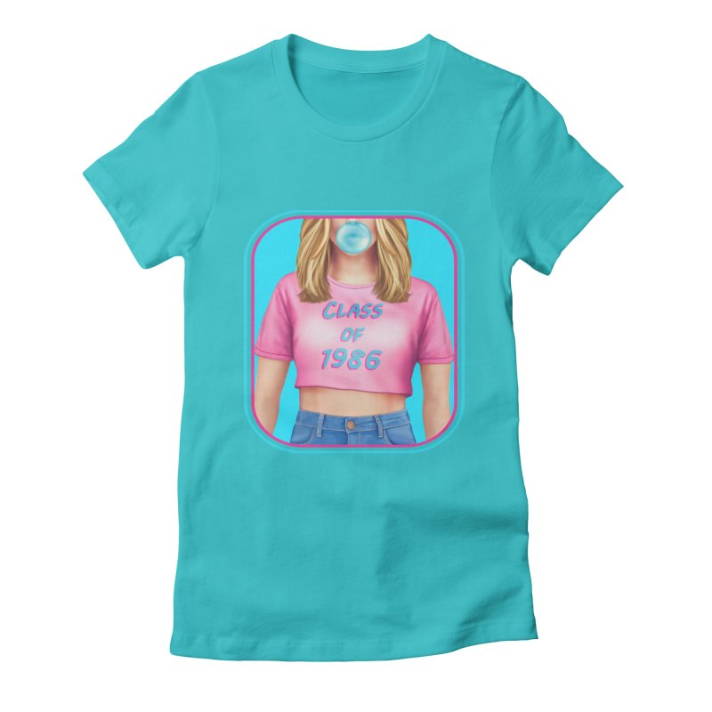 Class Of 1986 Women's Fitted T-Shirt by The Glitchway