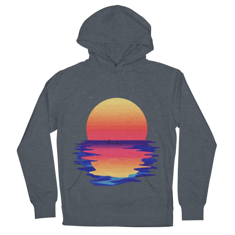 Ocean Dreams Men's French Terry Pullover Hoody by The Glitchway