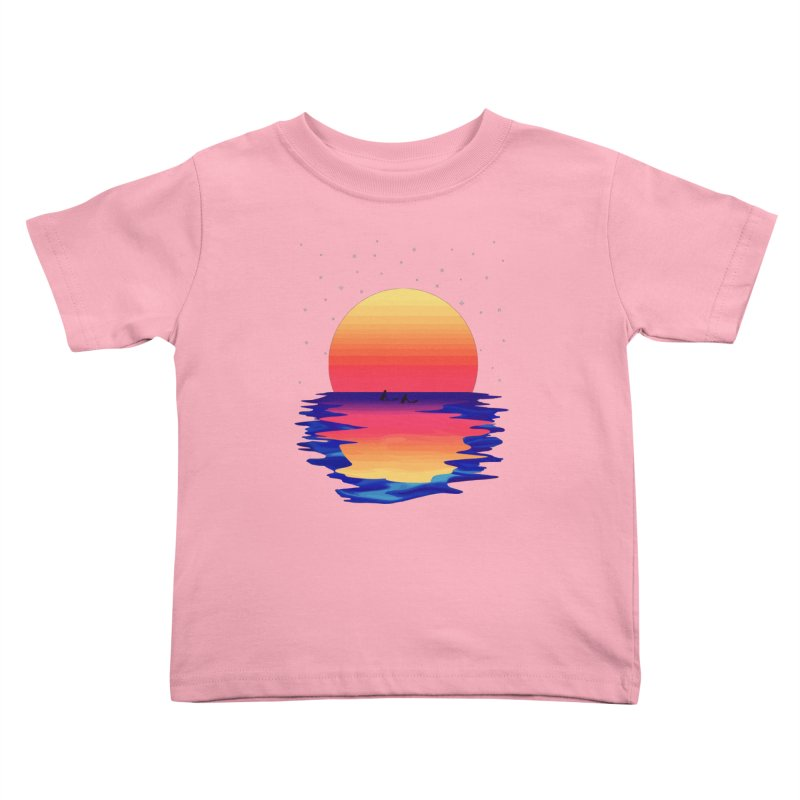 Ocean Dreams Kids Toddler T-Shirt by The Glitchway