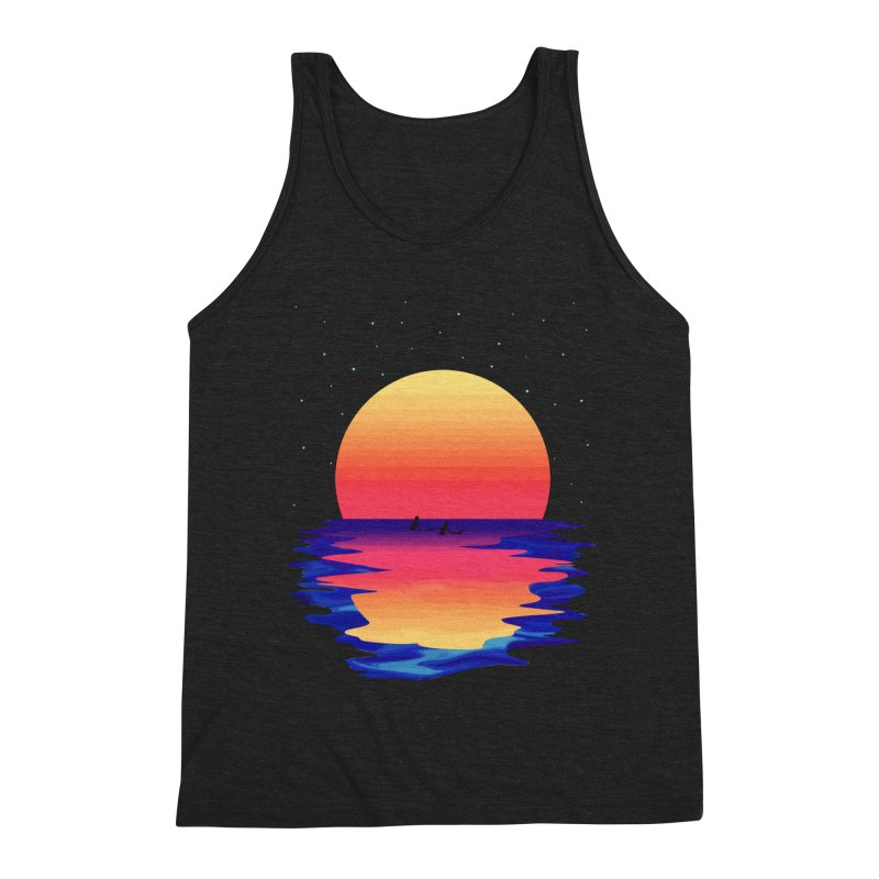 Ocean Dreams Men's Triblend Tank by The Glitchway