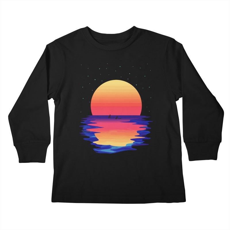 Ocean Dreams Kids Longsleeve T-Shirt by The Glitchway