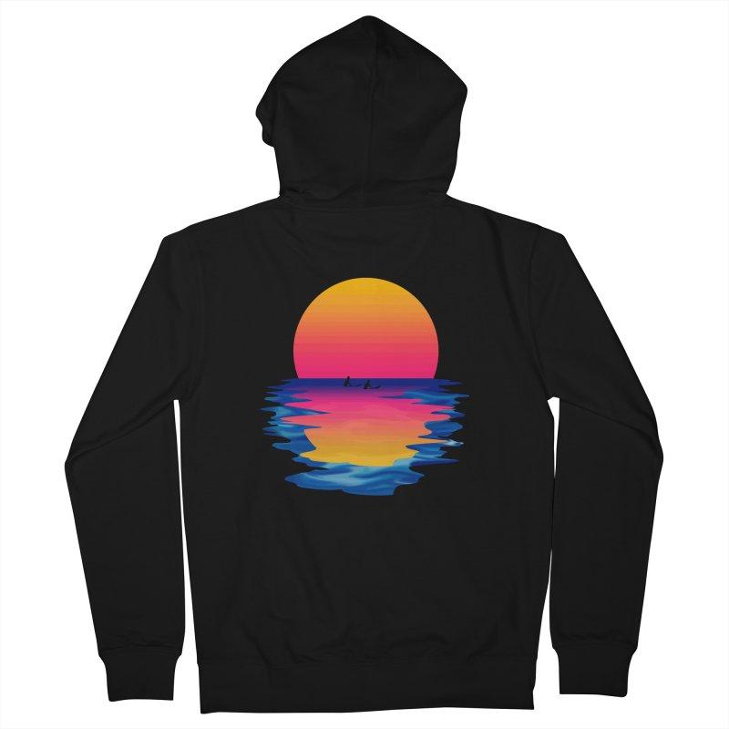 Ocean Dreams in Men's Zip-Up Hoody Black by Glitchway Store