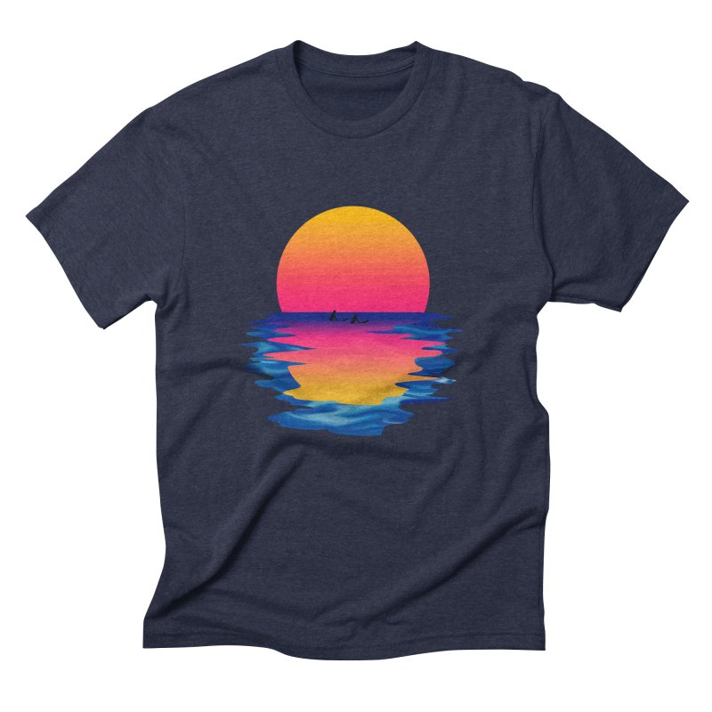Ocean Dreams Men's Triblend T-Shirt by Glitchway Store
