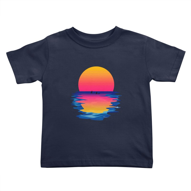 Ocean Dreams Kids Toddler T-Shirt by Glitchway Store