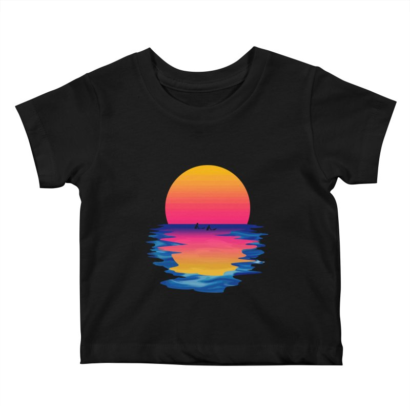 Ocean Dreams Kids Baby T-Shirt by Glitchway Store