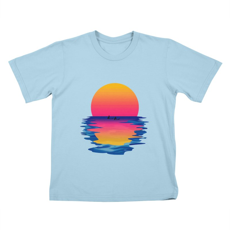 Ocean Dreams Kids T-Shirt by Glitchway Store