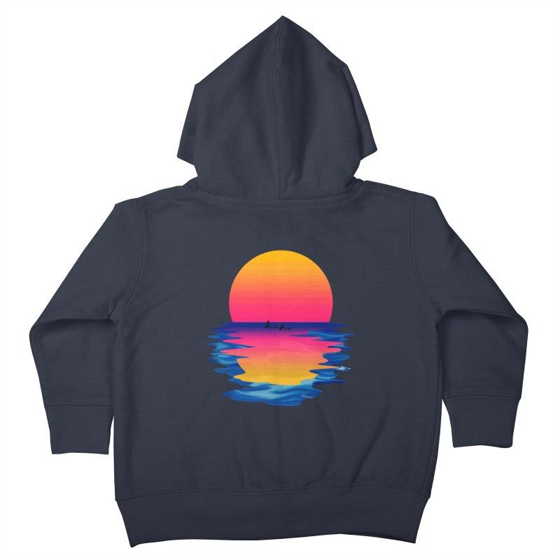 Ocean Dreams Kids Toddler Zip-Up Hoody by Glitchway Store