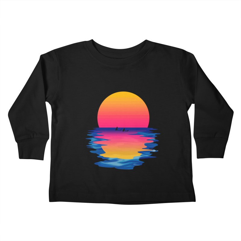 Ocean Dreams Kids Toddler Longsleeve T-Shirt by Glitchway Store