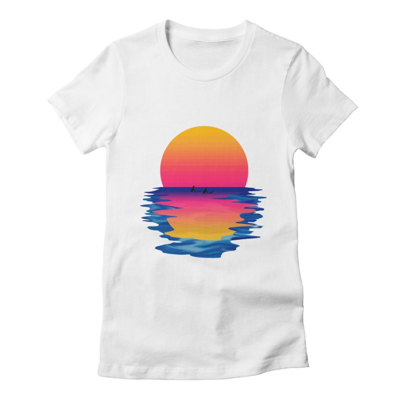 Ocean Dreams Women's Fitted T-Shirt by Glitchway Store