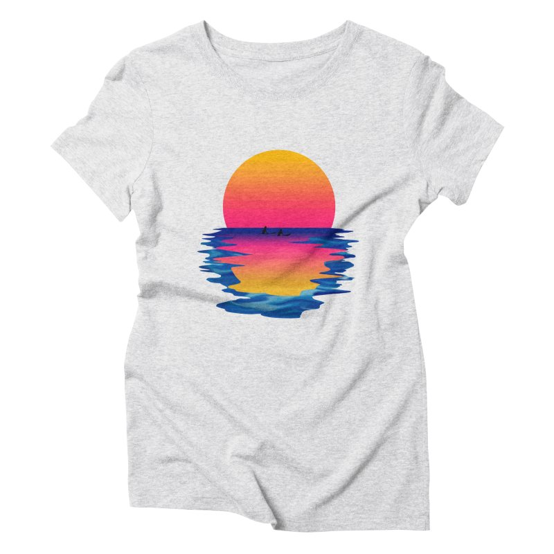 Ocean Dreams Women's Triblend T-Shirt by Glitchway Store