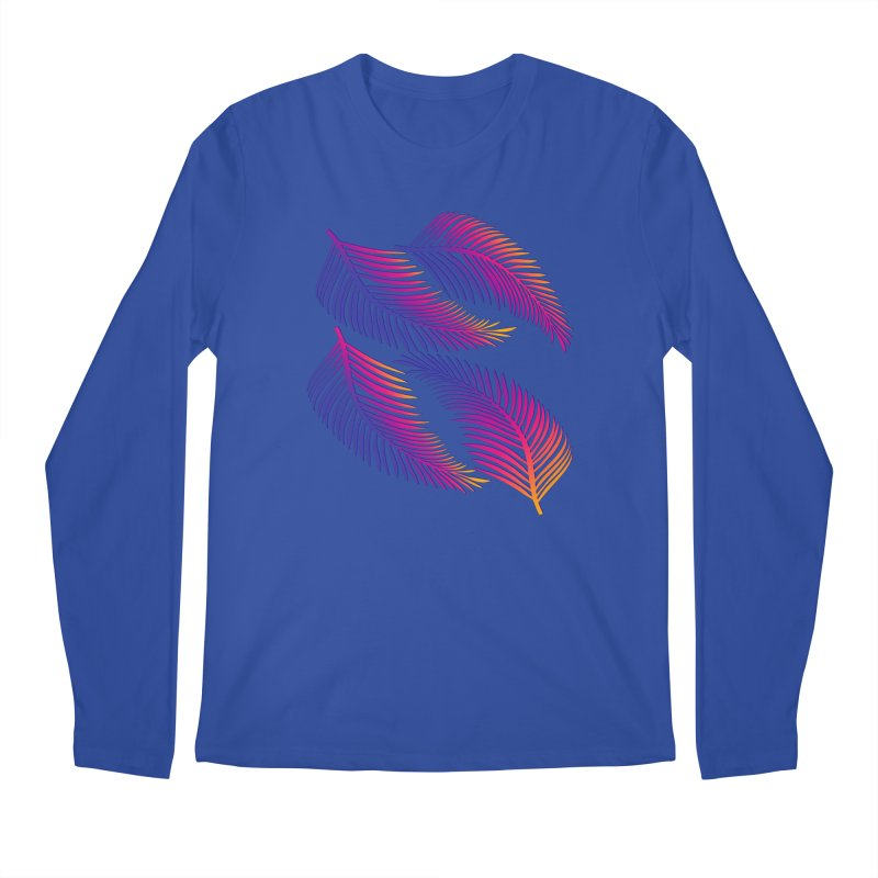 Neon Leaves Men's Regular Longsleeve T-Shirt by The Glitchway