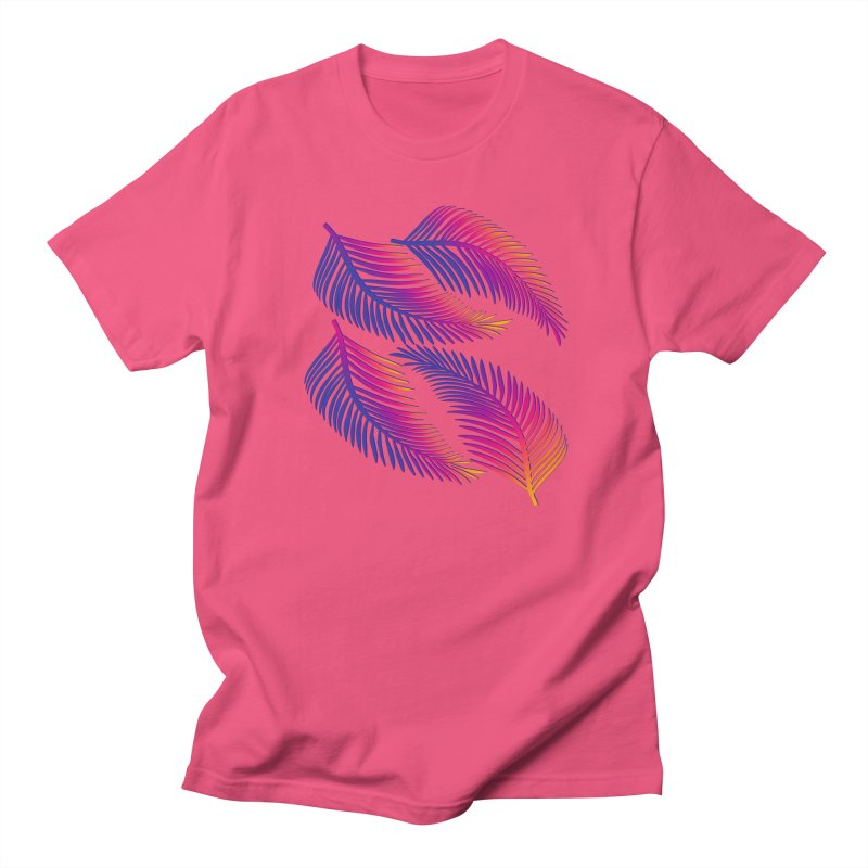 Neon Leaves Women's Regular Unisex T-Shirt by The Glitchway