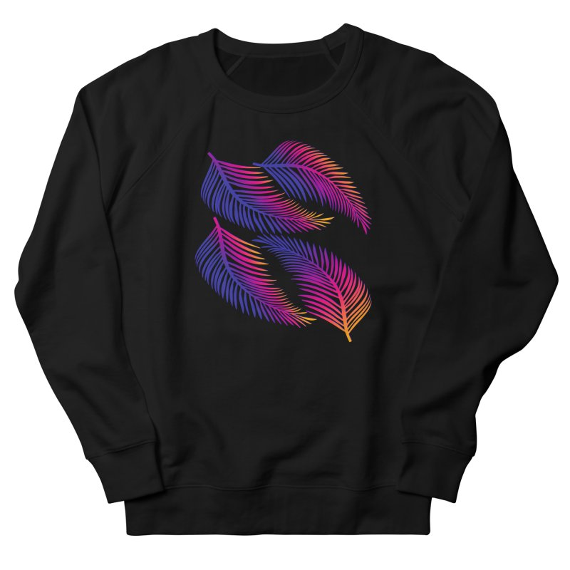 Neon Leaves Women's Sweatshirt by The Glitchway