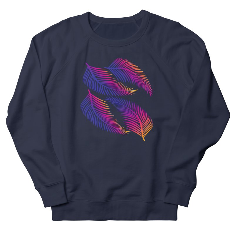 Neon Leaves Women's Sweatshirt by Glitchway Store