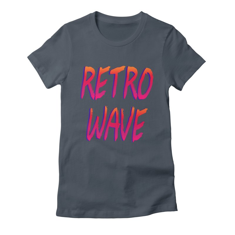 Retrowave Women's Fitted T-Shirt by Glitchway Store