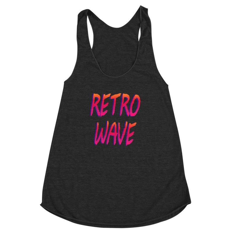 Retrowave Women's Racerback Triblend Tank by Glitchway Store