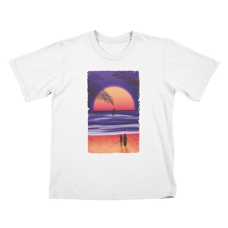 Beach Break Kids T-shirt by Glitchway Store