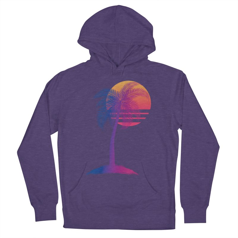 Sunset Dreams Women's French Terry Pullover Hoody by The Glitchway