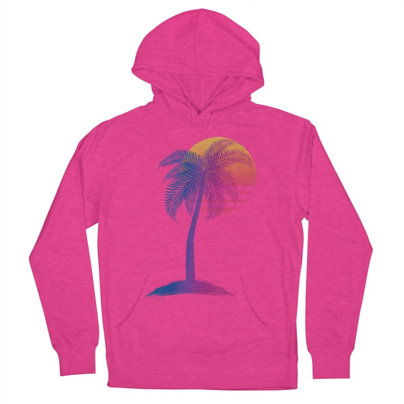 Sunset Dreams Men's French Terry Pullover Hoody by The Glitchway