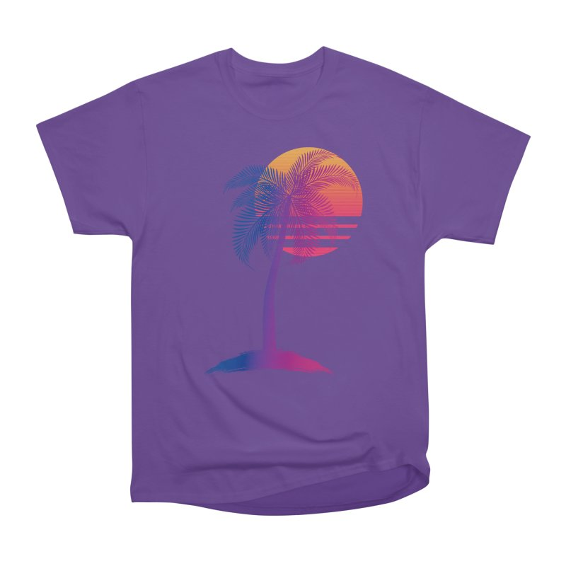 Sunset Dreams Men's Heavyweight T-Shirt by The Glitchway