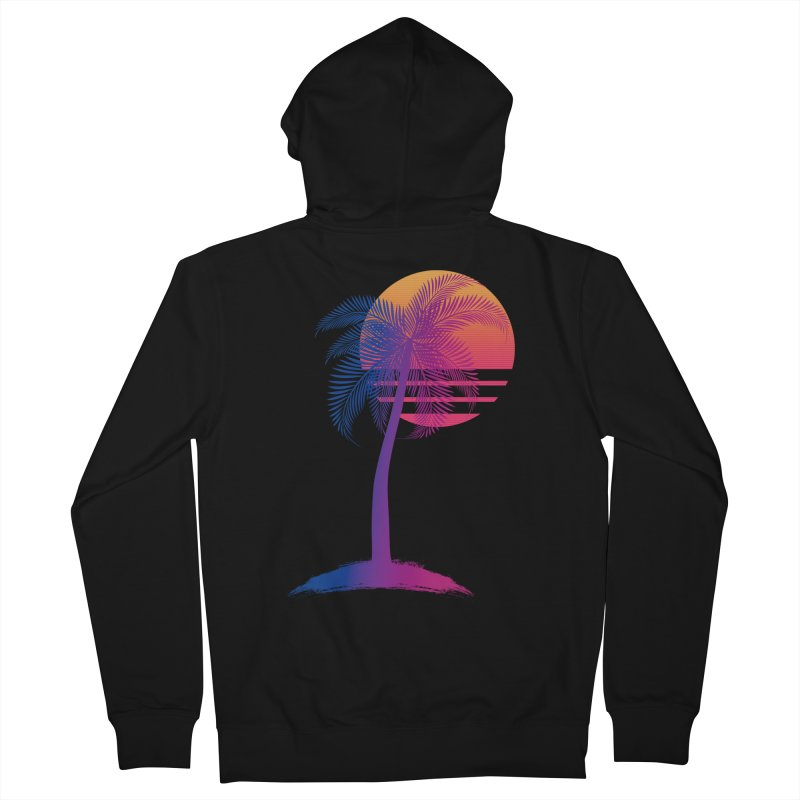 Sunset Dreams Women's French Terry Zip-Up Hoody by The Glitchway