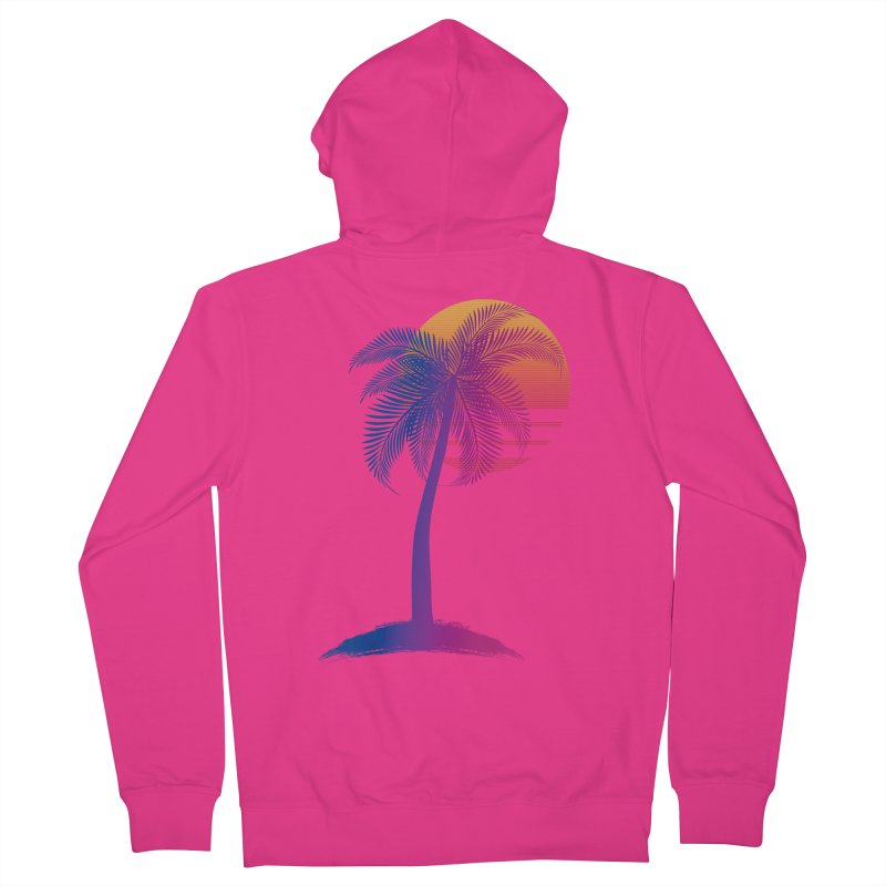 Sunset Dreams Men's French Terry Zip-Up Hoody by The Glitchway