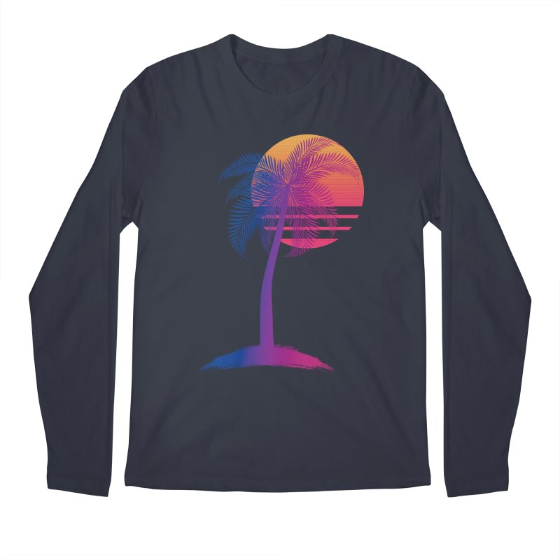 Sunset Dreams Men's Regular Longsleeve T-Shirt by The Glitchway