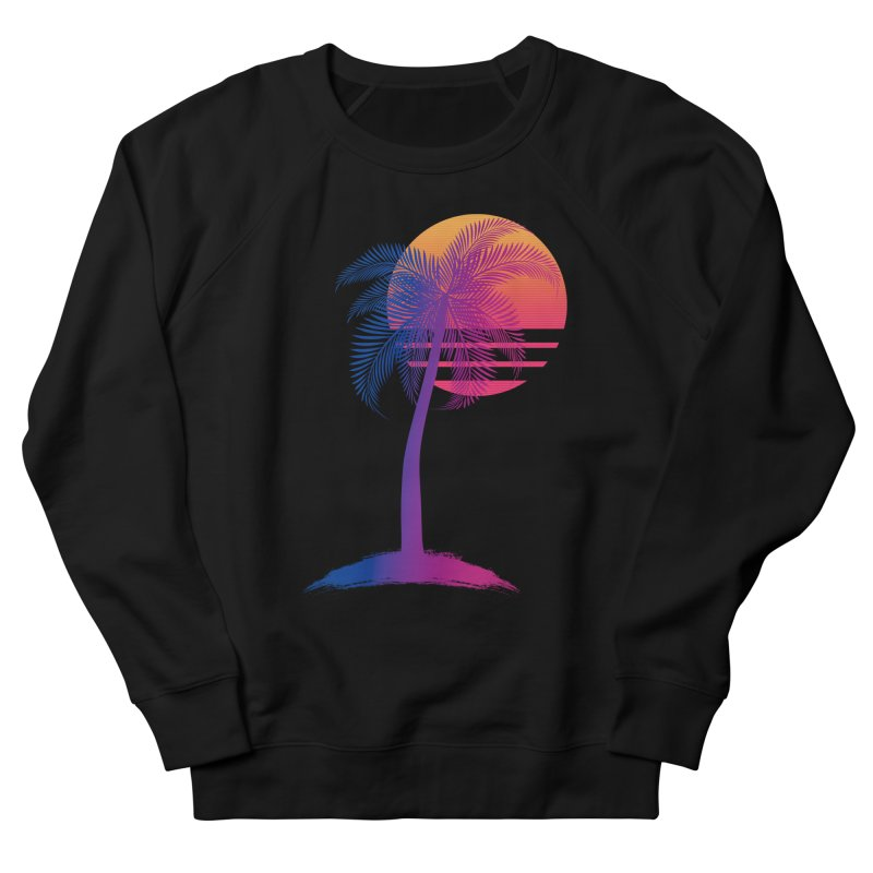 Sunset Dreams Men's French Terry Sweatshirt by The Glitchway