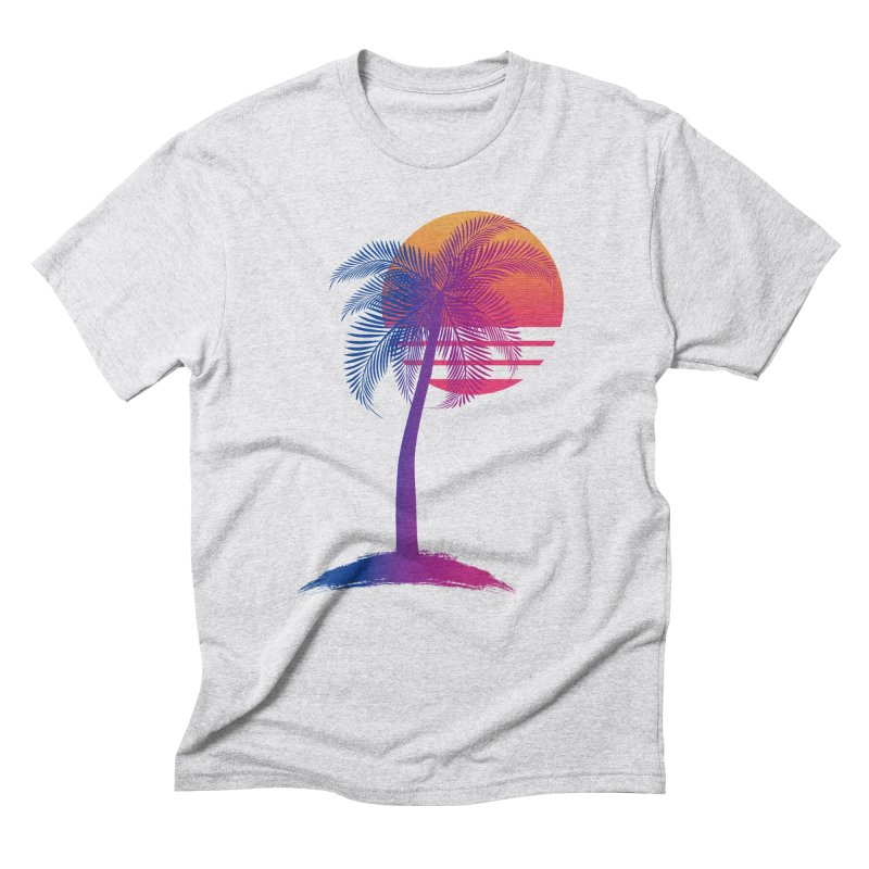 Sunset Dreams Men's Triblend T-Shirt by The Glitchway