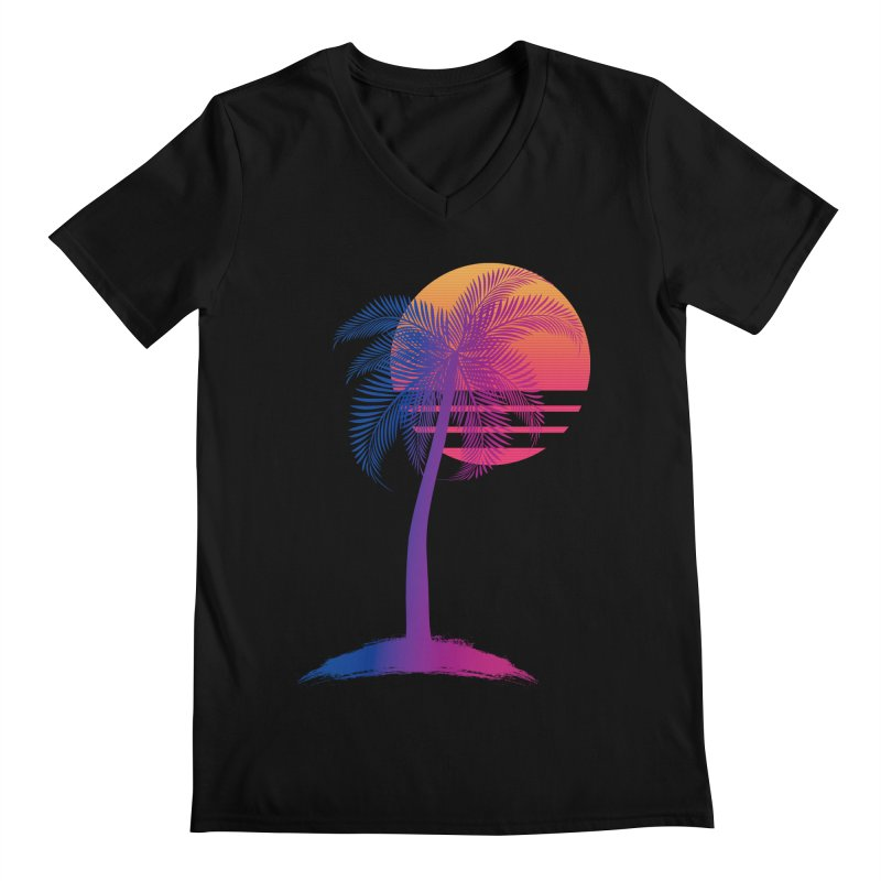 Sunset Dreams Men's V-Neck by Glitchway Store
