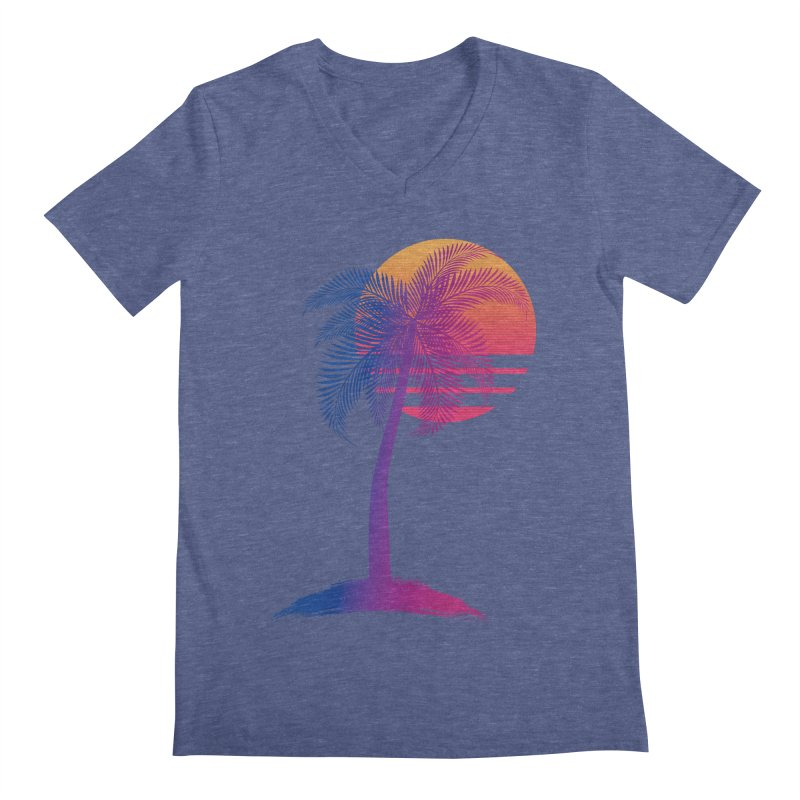 Sunset Dreams Men's Regular V-Neck by The Glitchway